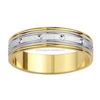 New Custom 14k Gold Mens Screw Design Wedding Band Ring in New York