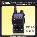 de aficionados de radio de vhf uhf 128ch 5w de mano de doble banda de walkie talkie