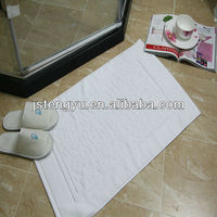hotel towel floor mat