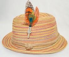 Natural Feather brooch/hair/hat/bag pin