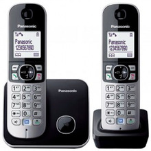 "Twin Dect Phone 1.8"" LCD, Sleek"