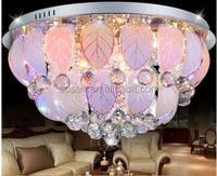 Luxury fancy hotel deco round flos lighting indoor crystal leaf ceiling light