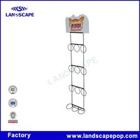 High quality metal wire roll up display stand for milk tea in supermarket