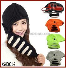 Mens Winter Warm Skull Knit Crochet Cap Gladiator Mask Windproof Ski Hat