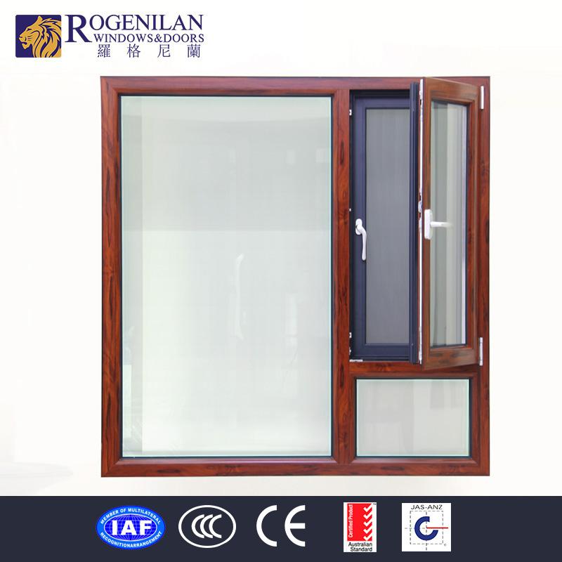 Rogenilan aluminum frame double glazed tempered glass door for Double glazed door and frame