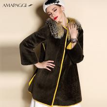 New style slim womens sheepskin winter fur coats on sale