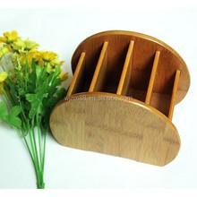 wholesale bamboo remote storage holders, desktop storage organizers