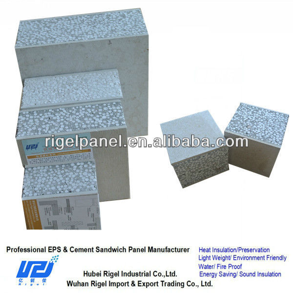 Polyurethane foam blocks eps cement composite panel wall Cement foam blocks