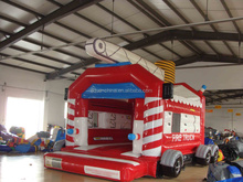 Kids favorite fire truck inflatable bounce house