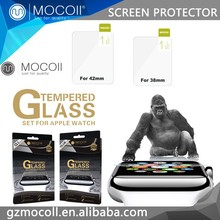 Wholesale nano electroplate coating tempered glass Screen Protector for Apple Watch