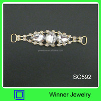 Cheap Rhinestone Belt and shoelace metal end clips