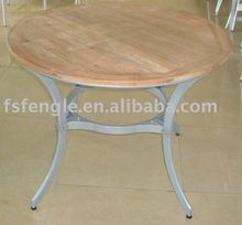 aluminium wooden table