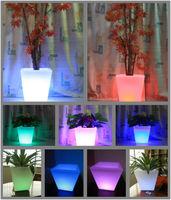 led lighting garden pot