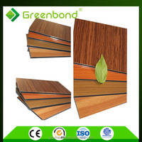 exterior wood aluminum plastic composite wall panel sheet for house decoration