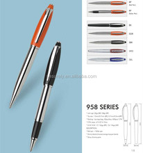 Shiny lacquer chrome wedding gifts for guests, gift pen for boss