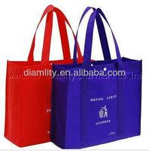 nuevo 2013 promocionales baratos logotipo de compras bagsin rojo