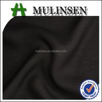 Shaoxing Mulinsen black dyed 100% polyester ITY chiffon fabric stock