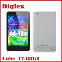 """new arrival 4G FDD Cube T7 Octa-core T7GT 7"""" 5-point 1920*1200 IPS Touch, Android 4.4 MTK8752 2.0GHz Phone Call tablet"""