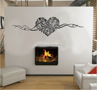 Heart Shape Removable Wall Stickers Wall Art LOVE Wedding Decoration Centerpieces Family Decals 150x40cm Home Decor