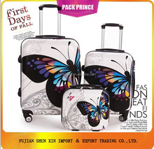 ABS PC butterfly hardshell trolley luggage set