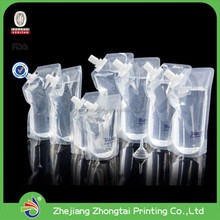 Transparent fordable plastic drinking water bottle with one color print at 250ml,480ml, 780ml,1l