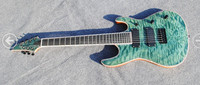 MUSOO BRAND 7string Electric guitar with quilted maple top ebony fingerboard