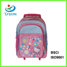 YF-SC015 Hot Selling Fashion Trolley 600D Backpack For Kids