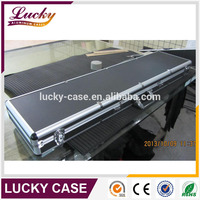 "53"" Aluminum Locking wholesale gun case with egg foam and black color"
