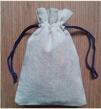 Eco material de yute con cordón bolsas, de algodón de yute bolsa de venta al por mayor