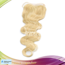 Alibaba china hot selling products cheap Brazilian human 613 color hair lace closure bleached knots brazilian body wave closure