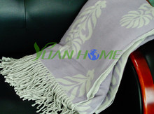 Flowers jacquard sofa bedding throws(YH8009)