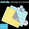 latest Anti-slip ice gel cool pillow cold gel pillow pad cooling ice mat