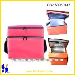 Double layers polyester insulted cooler bag With New Design