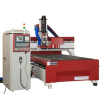 Factory supply 8 tools atc cnc router with 9kw Italy spindle yaskawa servo motor