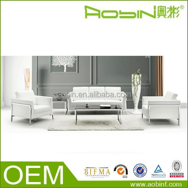 Latest Design Leather Office Living Room Furniture Sofa