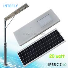 INTEFLY 20W Solar LED Street Light All-in-one Utility Model