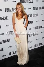 Celebrity Inspired Kimberley Garner UK premiere of 'Total Recall' Cut Out Ivory Prom Dress