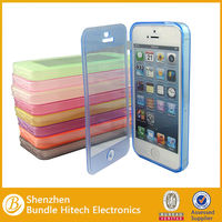 TPU GEL CRYSTAL CLEAR & MATTE MIX SOFT CASE COVER FOR IPHONE 5G 5S + SCREEN FILM