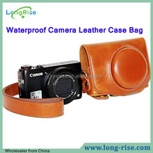 High Quality Waterproof Camera Leather Case Bag for Canon G7X On Sale