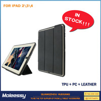 High-level flip leather case for ipad mini for ipad 234