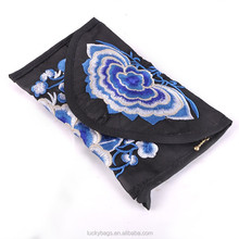 2015 new style women clutch bag embroidery coin purse mobile phone bag