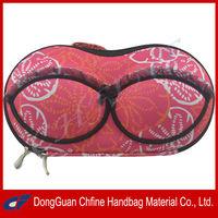 CFBCD3-00040 Printed 600D EVA hard shell bra panty bag for travelling