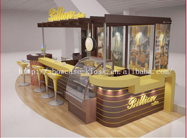 4 3m ce approved hot selling 3d design food kiosk waffle 4 selling design
