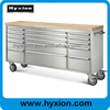 ( HOT ) Metal Tool Box Trolley with 15 Drawers/ Casters/ Wood Top