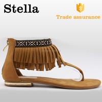 slip on macrame lace thong lint korea sandals