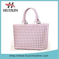 New design genuine leather women handbag with special design
