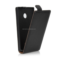 Protective back flip cover genuine leather case for Nokia lumia 532