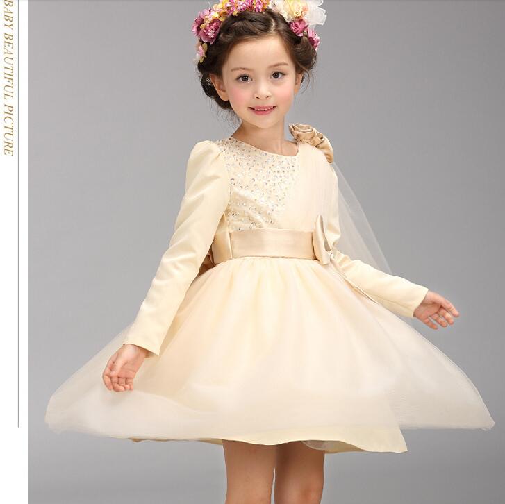 2015 good quality kids wedding dress costume girl party dress children