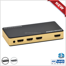 Mini 3 Port 2160p Video HDMI Switch Switcher HDMI Splitter Box 3x1 With IR Remote For HDTV HD 2160P 3D DVD / Projector/ A/V Rece