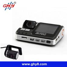 X6000 3.0Mp HD 720P Loop Recording 330 Rotation IR Night Vision Dual Camera Car Dvr